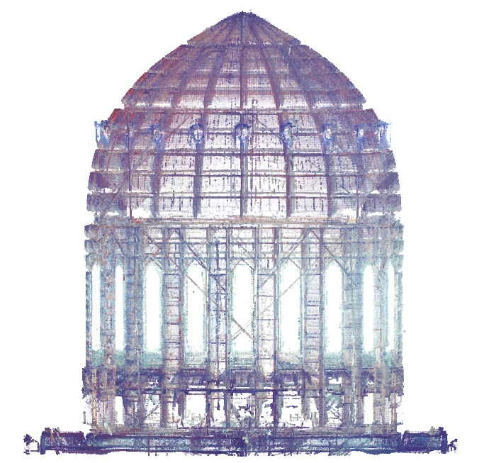 Point cloud of a FARO focus 3D church dome scan