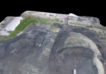 3D mesh of coal piles