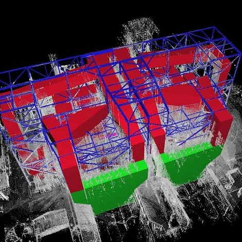 3D power plant exhaust section