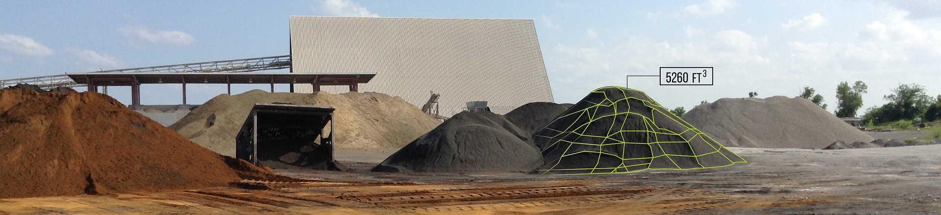 3d scan stockpile quarry