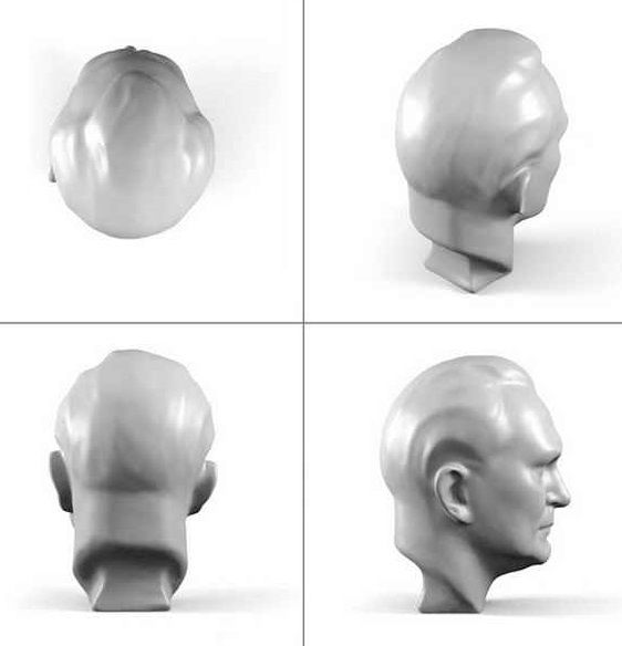 Bust 3D scan and print