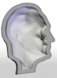 Slice of a head 3d model