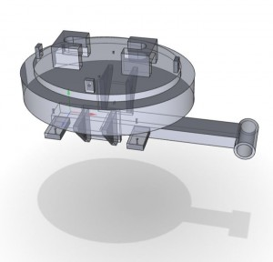 3D model of pressure vessel door