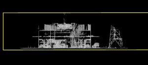 Black and white point cloud slice