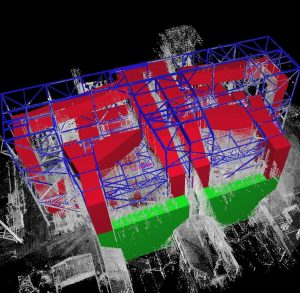 CAD model over point cloud