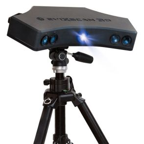 Structured light scanner on tripod