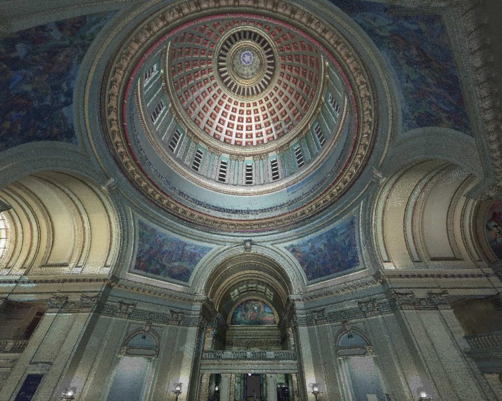 State Capitol Dome From Below
