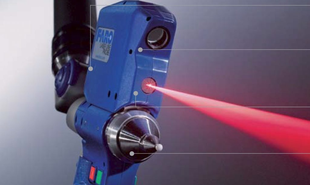 laser probe and beam