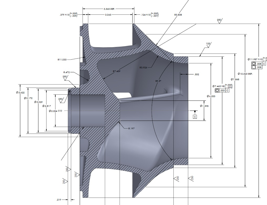 2d Drawing of impeller