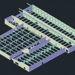 warehouse 3d scan and CAD model