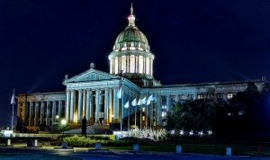 OK capitol at night