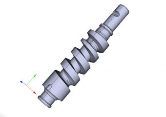 worm gear steering gear 3d model