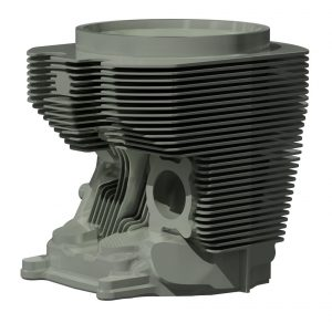 3d scanning aviation cylinder head