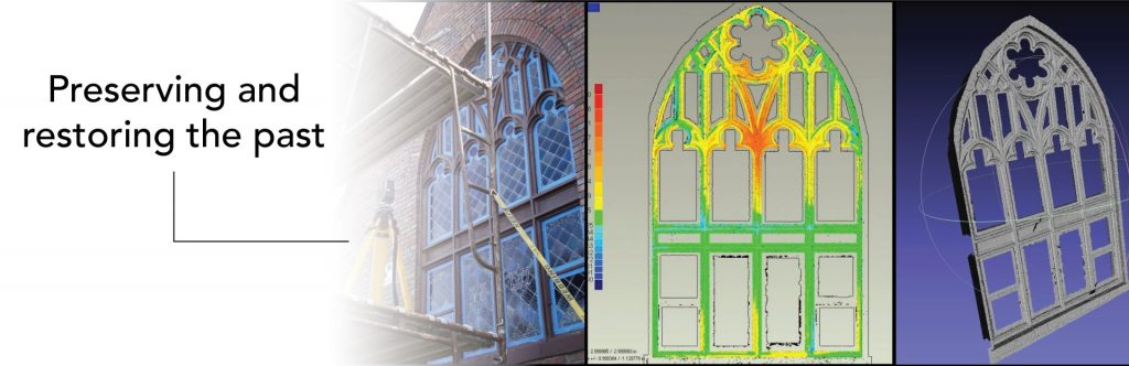 3d scanning stained glass window