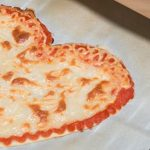 a heart-shaped pizza made through 3d printing