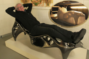 """The Root Chair"" was designed by Sulan Kolatan and William MacDonald."