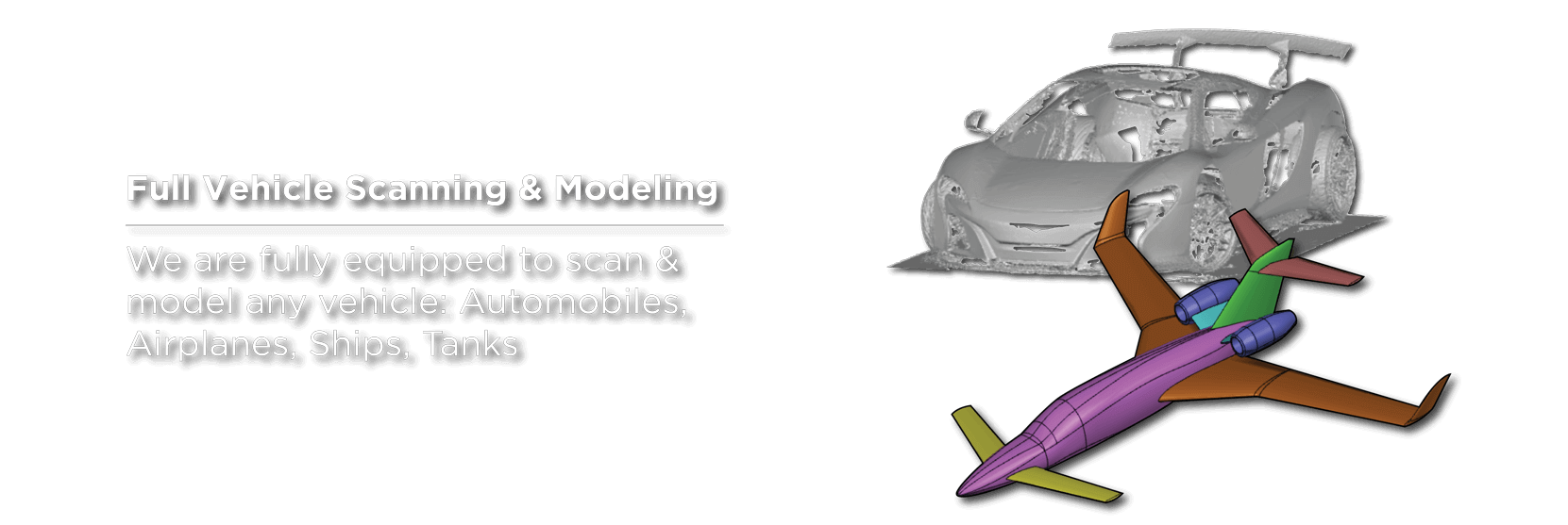 3d laser scanning cars and planes