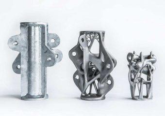 three metal parts