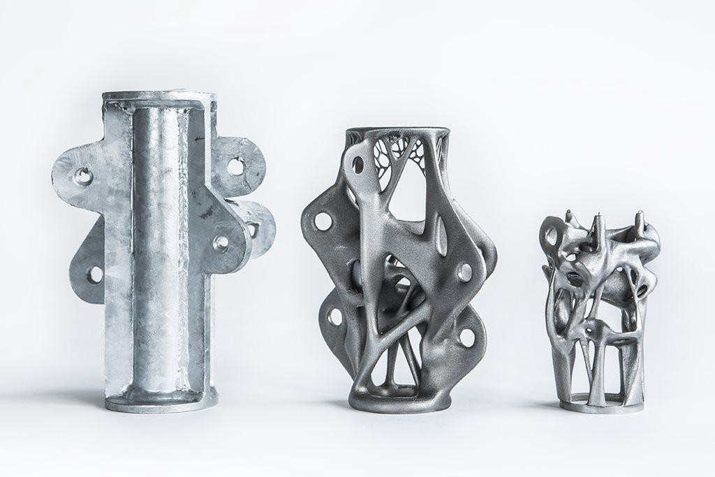 three metal parts