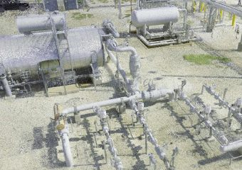 Gas plant 3d scan point cloud
