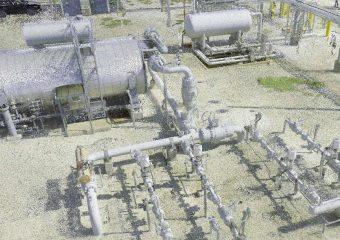 Gas plant 3d scan point cloud