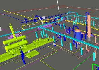 gas plant 3d model