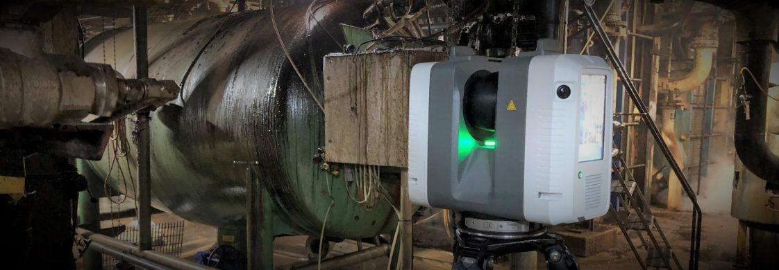 laser scanner in a plant